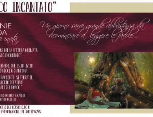 """Laboratorio """"Bosco Incantato"""" Sabato 24 Novembre, letture e creatività ad Ancona"""
