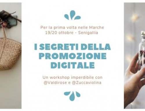 """19 e 20 Ottobre workshop teorico pratico """"I segreti della promozione digitale"""", Senigallia"""